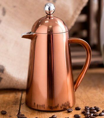 La Cafetiere THERMIQUE COPPER Coffee Maker DOUBLE WALLED Stainless Steel 3 Cups
