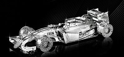 F1 Racing Car 3D Metallic Puzzle Model - Stainless Steel - New