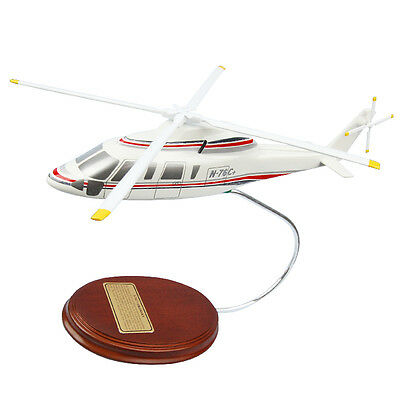 Sikorsky S-76C+ Shares Helicopter Copter Factory Desk Top Display 1/52 MC Model