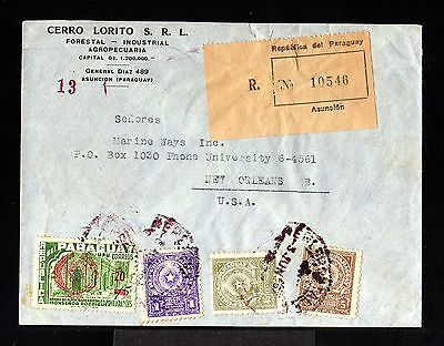 10760-PARAGUAY-REGISTERED COVER ASUNCION to NEW ORLEANS (usa)1959.Certificado