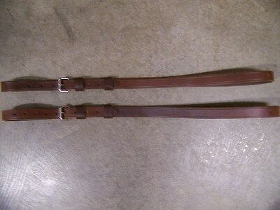 LEATHER LUGGAGE STRAPS for LUGGAGE RACK/CARRIER~~(2) PIECE SET~ANTIQUED DK BROWN