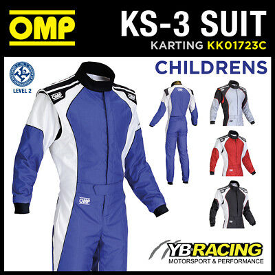 KK01723C OMP KS-3 KS3 CHILDRENS KART SUIT for CADET JUNIOR BAMBINO KARTING
