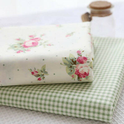 One PCS Cotton Fabric Pre-Cut Quilt cloth Fabric for Sewing Garden flowers V88