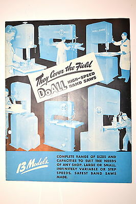 THEY COVER THE FIELD DoAll HIGH-SPEED BAND SAWS BROCHURE 1947 RR934 HS4 LHV Z-16