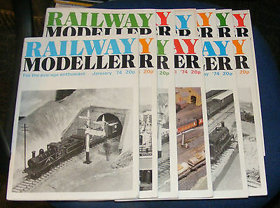 Railway Modeller Magazines Various Issues 1974