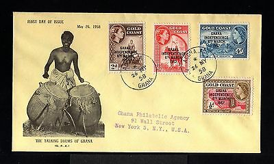 10750-GOLD COAST-FDC.REGISTERED COVER ACCRA to NEW YORK (usa)1958.British.