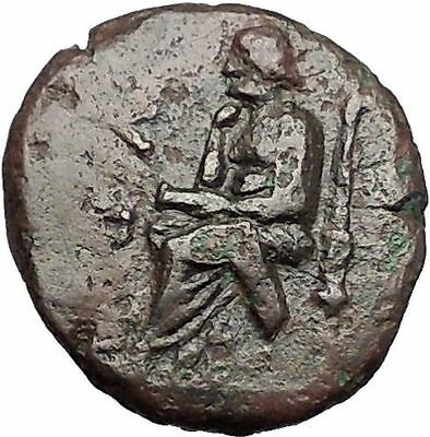 KOLOPHON in IONIA 1CenBC Poet Homer of ODYSSEY Apollo Ancient Greek Coin i55423