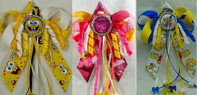 Pink Panther, Sponge Bob or Simpsons Bart Homer Hair Bow with Beads