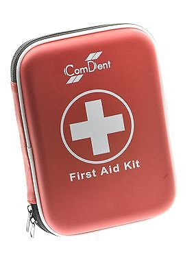 90 Piece Premium First Aid Kit in Hard Shell Case Home Travel First Air Kit UK