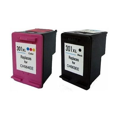 301XL NERO + COLORE COMPATIBILE X HP 301 XL CH563EE CH564EE DeskJet 2510