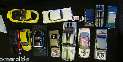 Metal Car Model Lot Of 13 Various Sizes & Makes Most Diecast One Or Two Ceramic