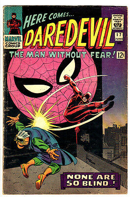 DAREDEVIL #17 (VG+) Early SPIDER-MAN Crossover Appearace! Stan Lee! Romita Art!