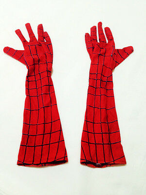 Stunning Amazing Spider-Man Elbow-length Gloves Costume Accessories Cosplay prop