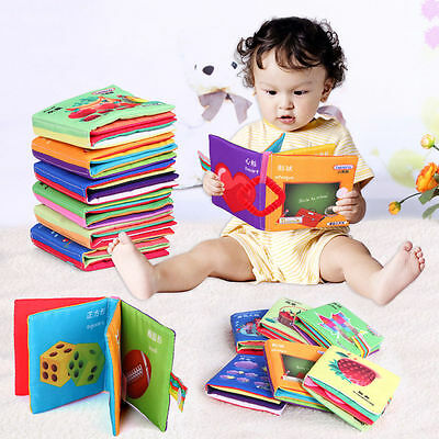 New Soft Cloth Baby Kid Child Intelligence Development Soft Cloth Cognize Book