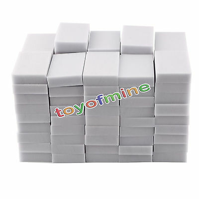 100PCS Cleaning Magic Sponge Eraser Melamine Cleaner Multi-functional Foam White