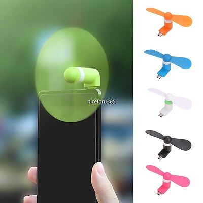 Phone Mini USB Electric Fan Cooling Smartphone Fan for Android Universal AU