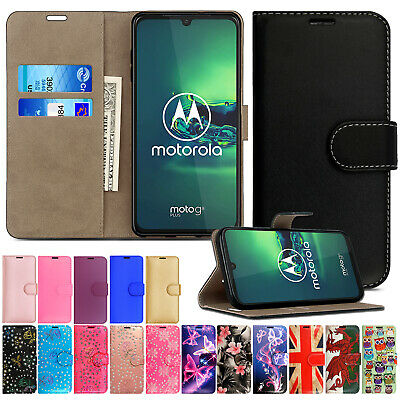 Leather Flip Book Wallet Case Cover For Motorola Moto E5 E4 G5 G4 G3 G2 G6 Play
