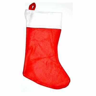 Christmas Santa Stocking Red Felt Hanging Sack Xmas Gift Present Bag Traditional