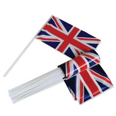 5 Union Jack Hand Waving Polyester Flags GB UK Olympic Games Party Fans Support
