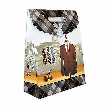 Gift Bags for Man Classic Birthday Fathers Day Christmas Gift Bags Strong Paper