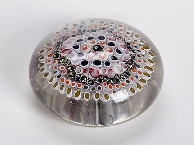 Unusual Antique English Concentric Cane Paperweight 19Th C.