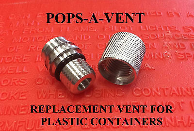 Pops-A-Vent Replacement Gas Can Vent Cap Fits all Plastic Containers Fast Pour!