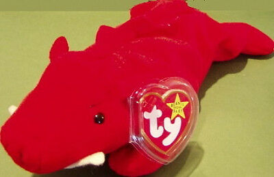 "TY Beanie Baby Babies ""GRUNT"" the RAZORBACK HOG 4th Generation MWMT Retired"