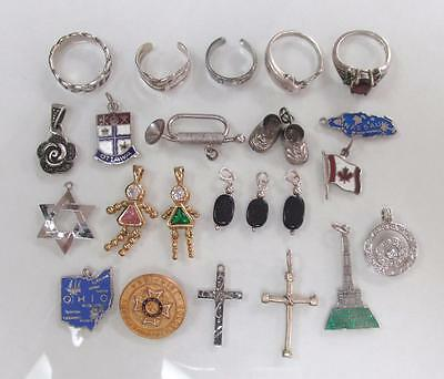 Dealer's Lot of 23 Sterling Silver Miscellaneous Items ~ 46.6 grams ~ 2-D6083