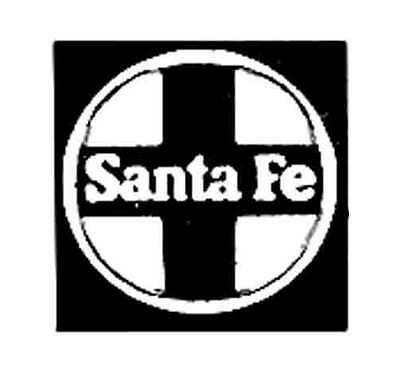 SANTA FE CROSS DIESEL ADHESIVE STICKER for American Flyer S Gauge Scale Trains