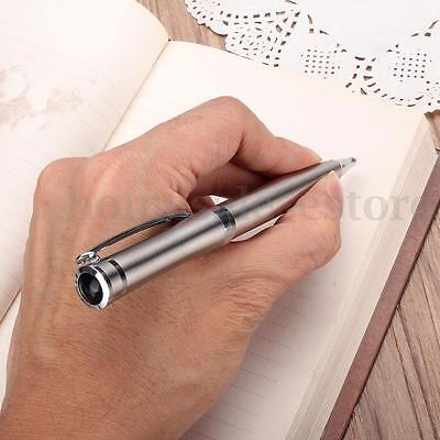 Stainless Steel Metal Silvery Ball Point Pen Business Student Office Black Ink