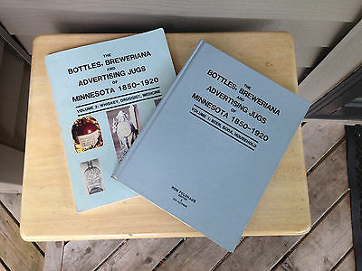 The Bottles, Brewiana & Advertising Jugs of Minnesota Ron Feldhaus Vol. 1 & 2 VG