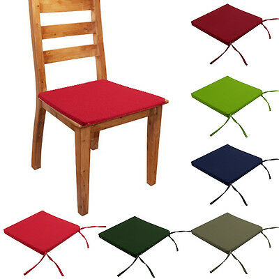 Removable Chair Cushion SEAT PADS Tie On Garden Dining Kitchen SQUARE Cushion