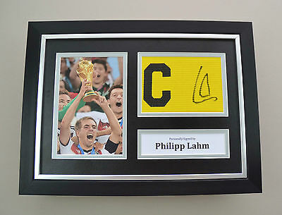 Philipp Lahm Signed A4 Photo Framed Captain Armband Germany Autograph Display