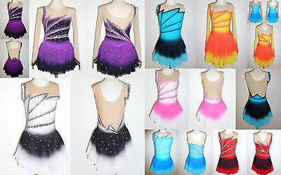 Ice Skating Dress/Baton Twirling/Tap/Dance Costume/All Colours/Styles