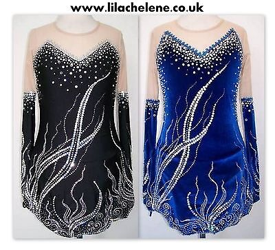 Ice skating dress/Rhythmic gymnastics RG Acro leotard Baton Twirling Costume