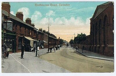 SWINDON Rodbourne Road, Old Postcard by Valentine Postally Used c1910