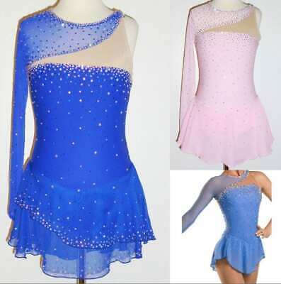 Ice Figure Skating Dress/Dance/Baton Twirling costume/Tap Outfit Custom Made