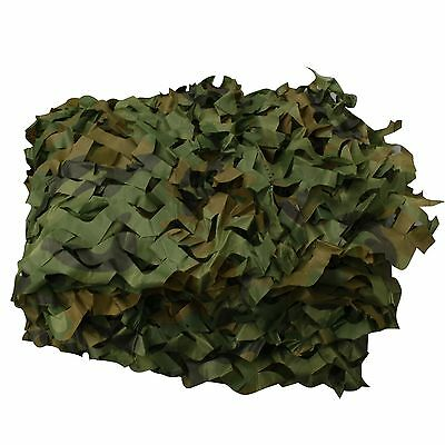 Green Woodland Camouflage Net for Camping Military Hunting  20X20 FT  6m x 6m
