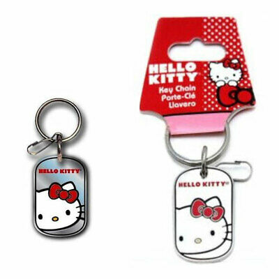 New Cartoon Sanrio Hello Kitty Bow Core 3 Pendent Metal Key Chain