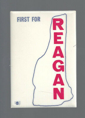 """Scarce 1968 """"First For Reagan"""" New Hampshire Design Hopeful Campaign Button"""