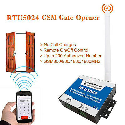 Wireless Door Access Free Call Remote Control by Phone GSM Gate Opener RTU5024