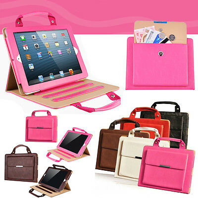Hot Perfect for Travel iPad 2 3 4 5 6 Stand Case With Handle&Storage Compartment