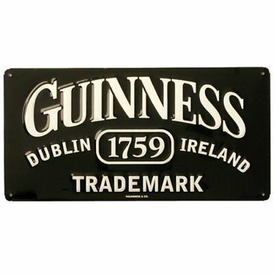 Guinness Trademark Tin Sign 14 x 7in New