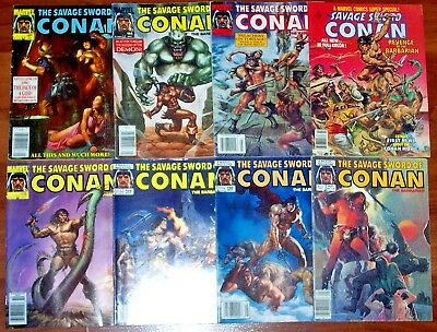 SAVAGE SWORD OF CONAN #14-199 + MARVEL COMICS SUPER SPECIAL #2 Cool 16 Issues!
