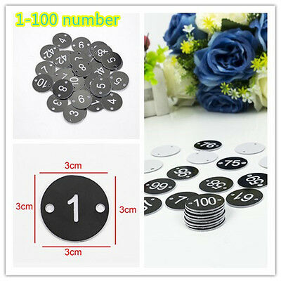 Set of 100 Table numbers Pubs Restaurants Clubs 1-100 Number Engraved 30mm Discs