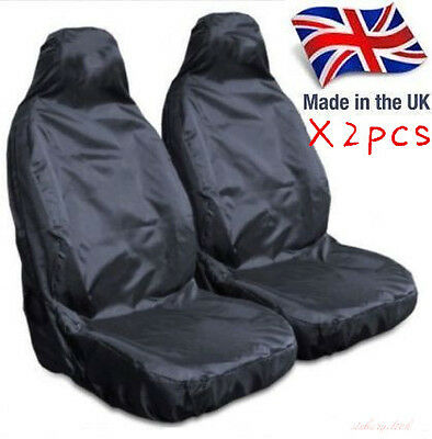 Heavy Duty Front Seat Covers Universal Car Van Black Waterproof Protector Muddy