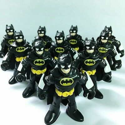 10x DC Super Friends Imaginext Batman Heroes Little people Action Figures HA91