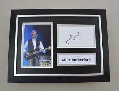 Mike Rutherford Signed A4 Photo Framed Genesis Memorabilia Autograph Display COA