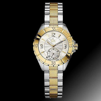 GC GUESS COLLECTION White Ceramic+Rose Gold Tone Swiss Made Watch ... 840c9e50c4