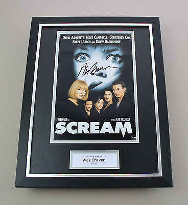 Wes Craven Signed Photo Framed 16x12 Scream Autograph Memorabilia Display + COA